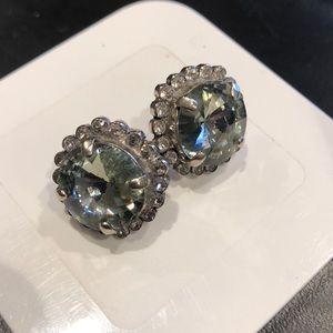Sorrelli large crystal stud earring